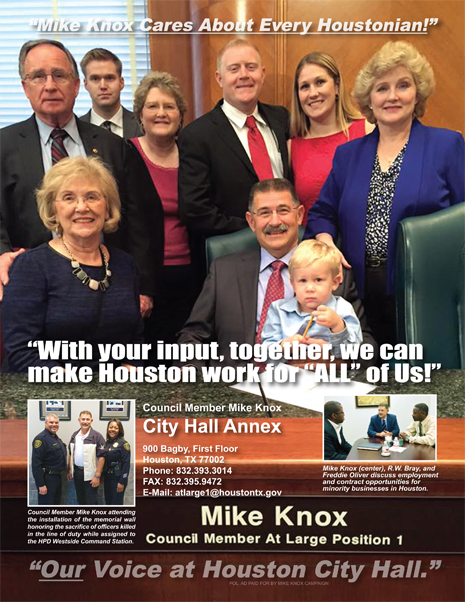 COUNCIL MEMBER MIKE KNOX CARES ABOUT EVERY HOUSTONIAN