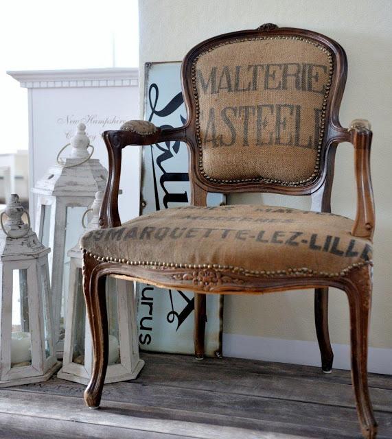Cosas de palmichula tela de saco con sellos originales y for Telas vintage