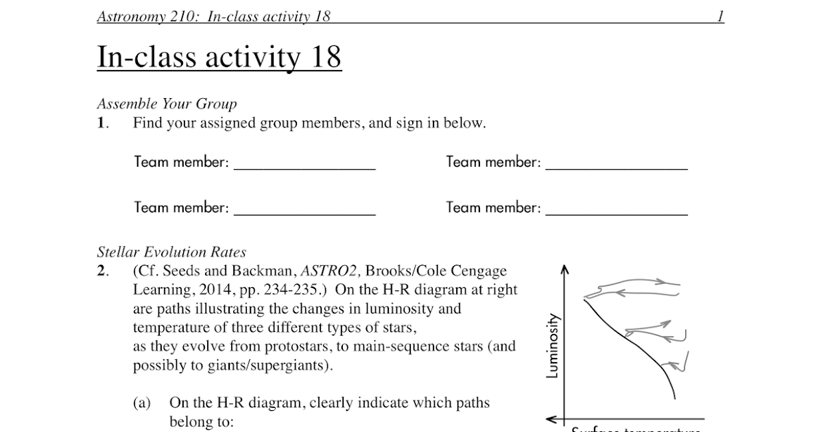 Pdogs blog boring but important Astronomy inclass activity – Stellar Evolution Worksheet