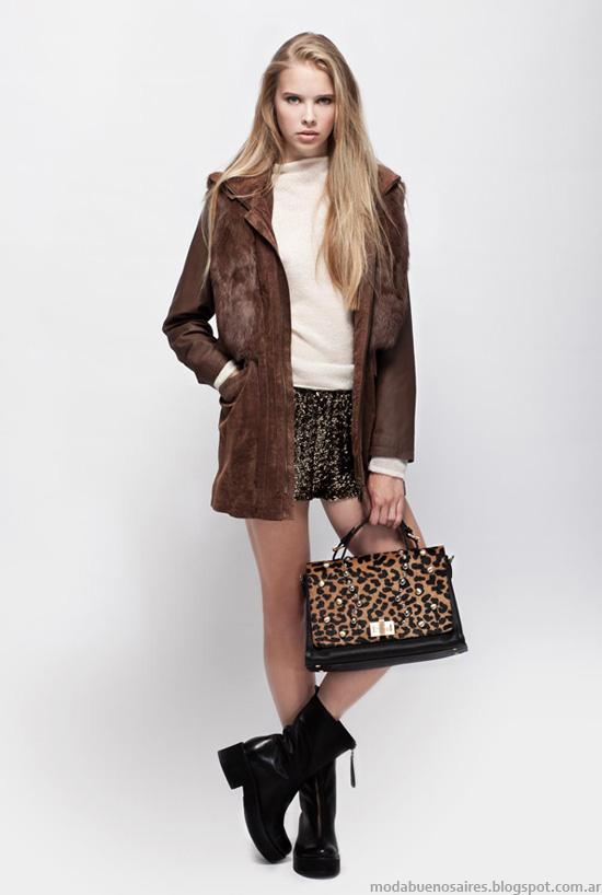 Sacones, tapados moda mujer invierno 2013 Prune.