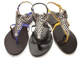 Arezzo verão sandalias tendência tribal