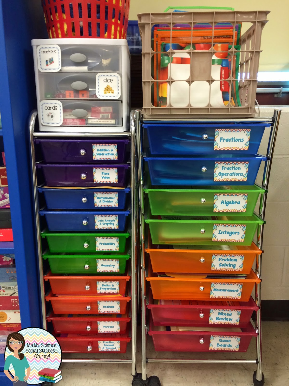 Classroom Organization Ideas Middle School ~ How i store my math games technically speaking with amy
