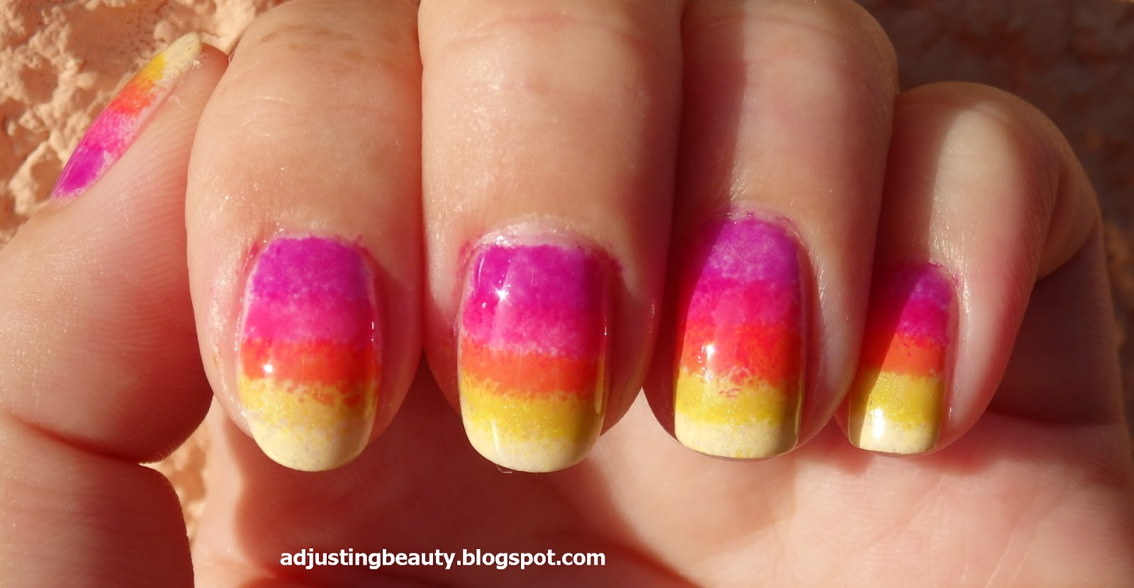 summer bright nail design adjusting beauty