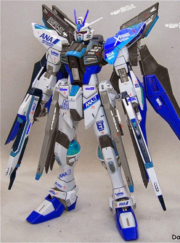 Custom Build: MG 1/100 Strike Freedom Gundam Full Burst ...