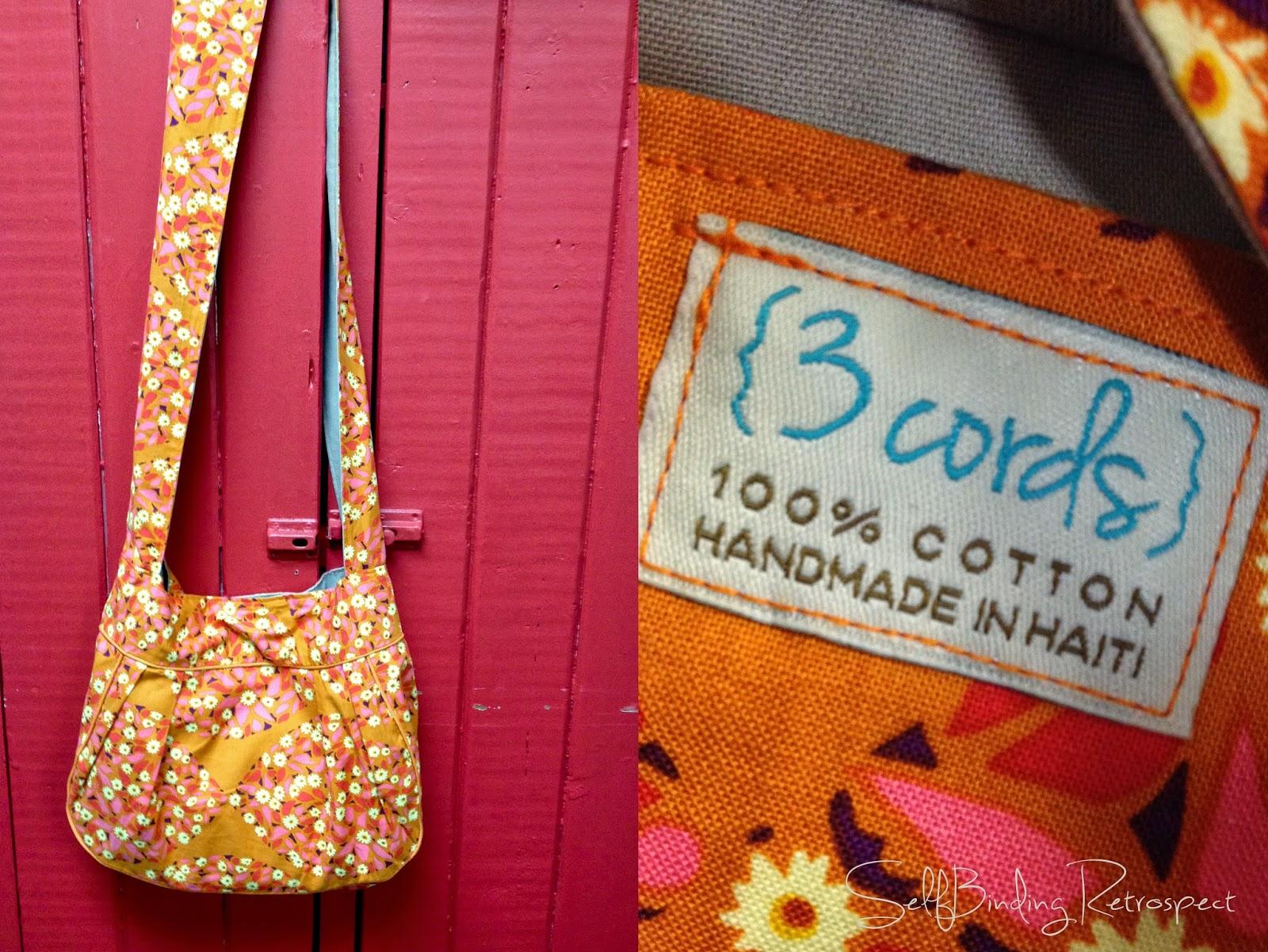 3 Cords purse, handmade in Haiti