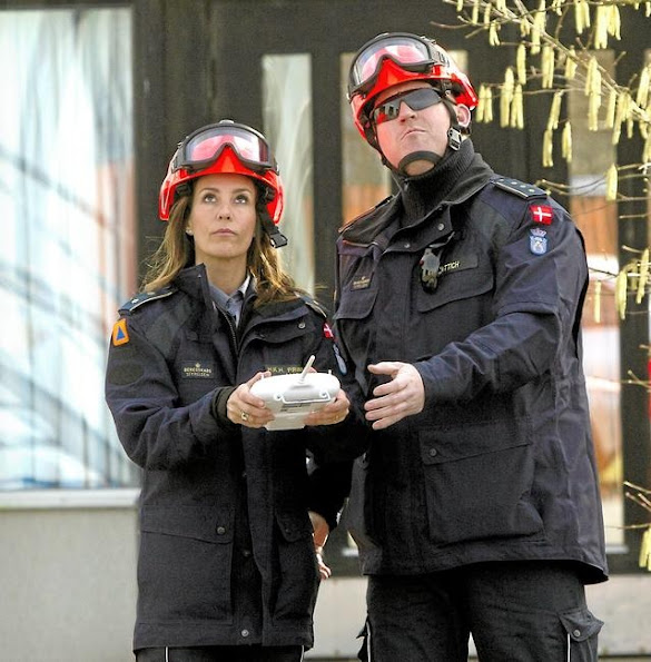 Princess Marie of Denmark visited the Danish Emergency Management Agency (DEMA)