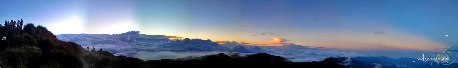 Panoramic view of the sunrise at the Peak of Mt. Pulag