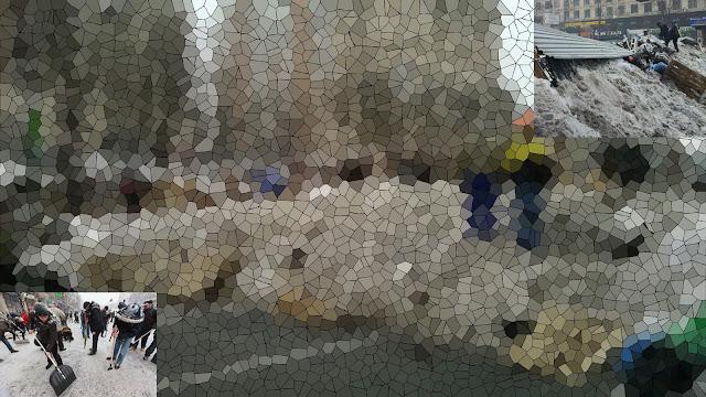 баррикады из снега на Майдане