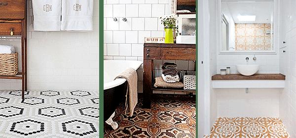 Baño Blanco Suelo Madera:Ideas de decoración: Trucos para baños pequeños