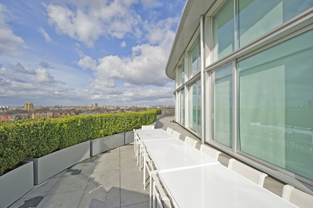 Picture of the London penthouse terrace