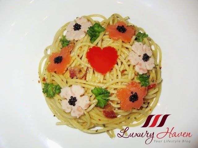 pretty valentines day aglio olio recipes