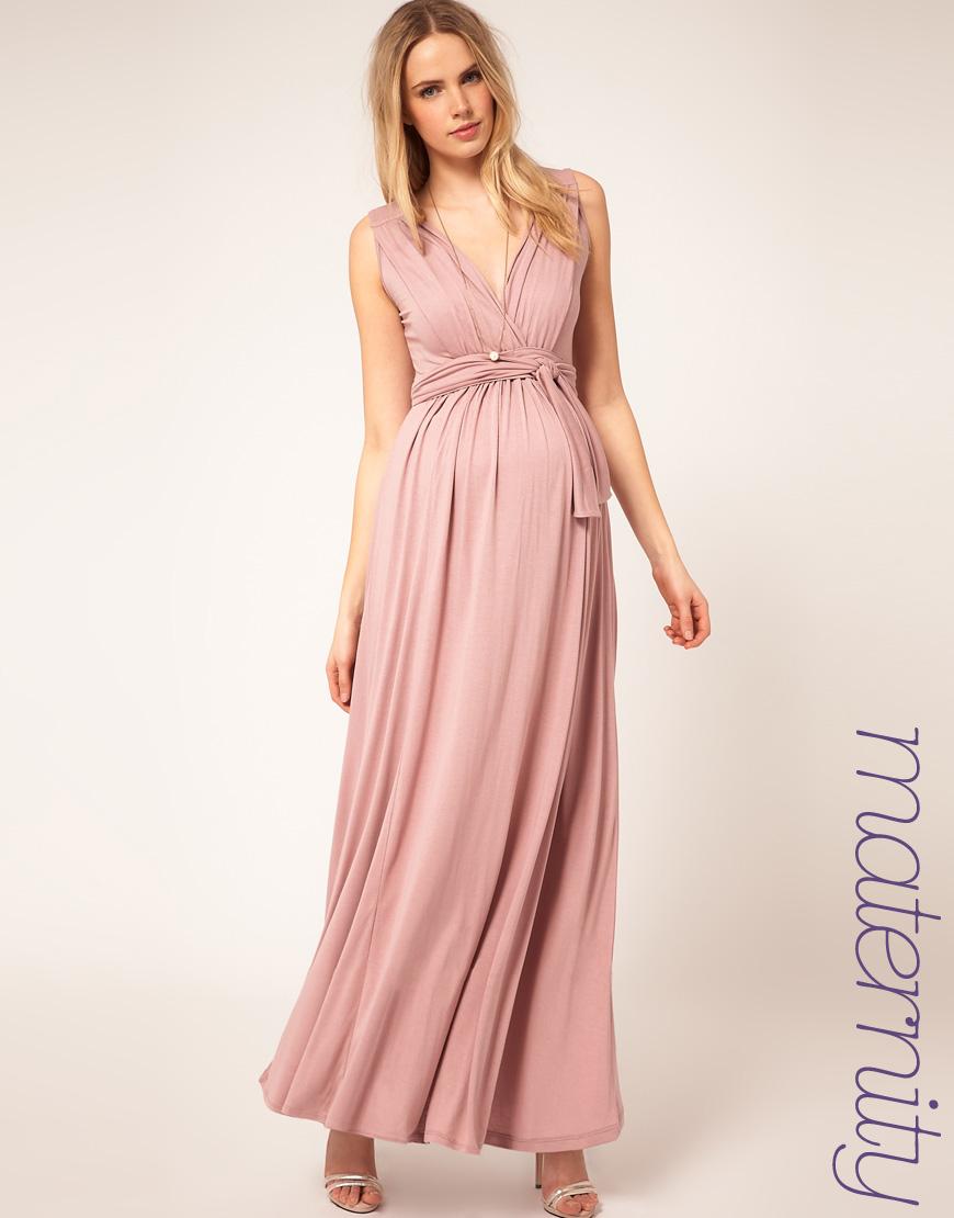 Vestido de malha longo simples
