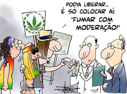 Fume maconha com moderação