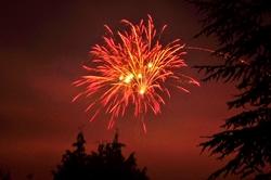 Feuerwerk...