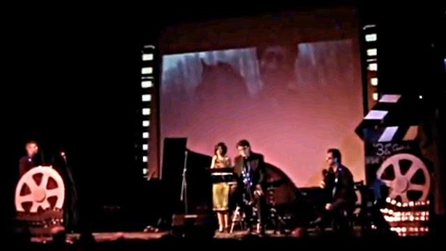 """Fotografía de """"3 en la Cartelera"""" 22/03/2013 A. Miravalls, T. Estévez, F. Sayzal, P.M. Castro"""