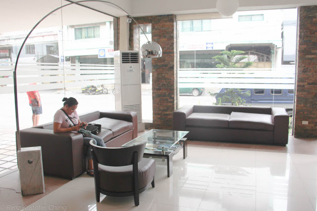 The lobby of O Hotel in Bacolod City