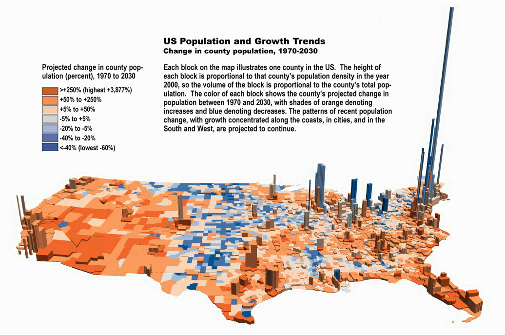 County Population Change And Components Of Change County - Us population change map