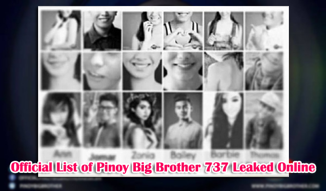 Official List of Pinoy Big Brother 737 Leaked Online