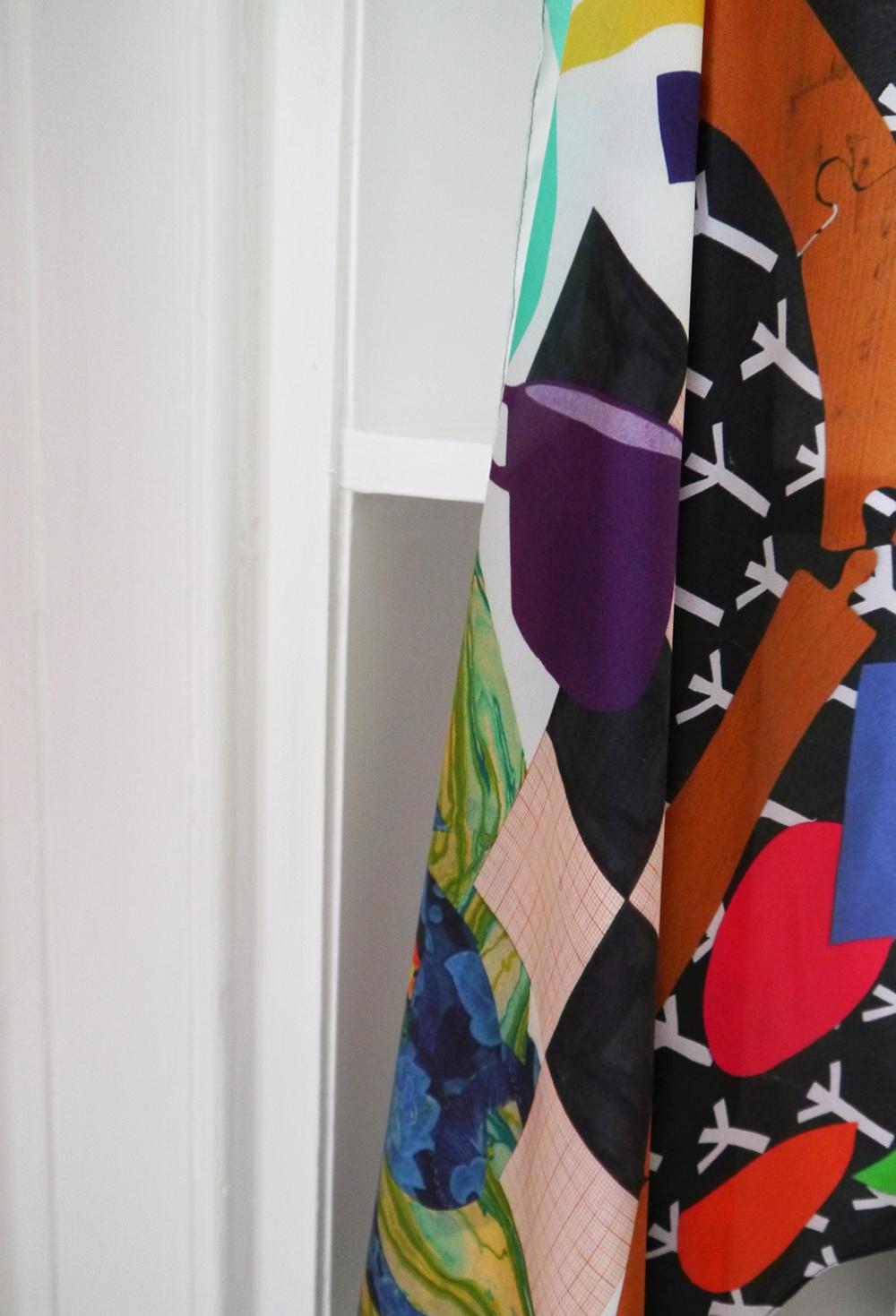 Scarf School, Scarf School Graduation, Edinburgh, Hill Street Design House, Karen Mabon, Scarf Design, Scottish Bloggers, blogging duo, pattern, patterned scarf