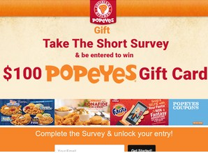 Free Popyes Gift Card