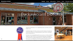 Backaskolans bibliotek har en egen webbplats (Google-site)