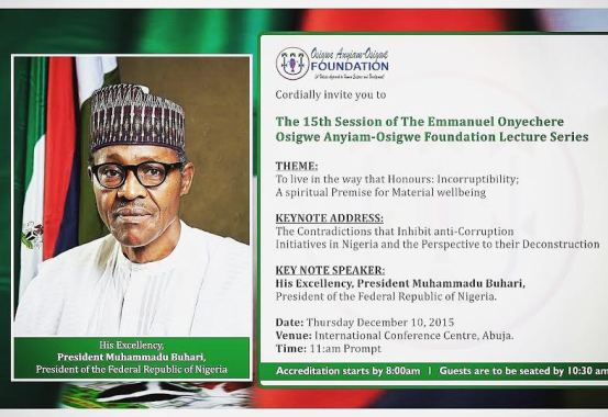 News : President Buhari to deliver Anyiam-Osigwe 2015 lecture [ Photos ]