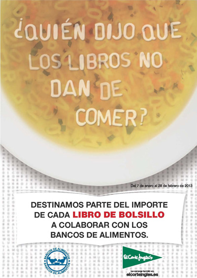 Cartel de la campaña ¿Quién dijo que los libros no dan de comer?