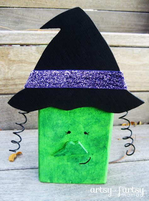Halloween Witch Blocs at artsyfartsymama.com #Halloween #witch