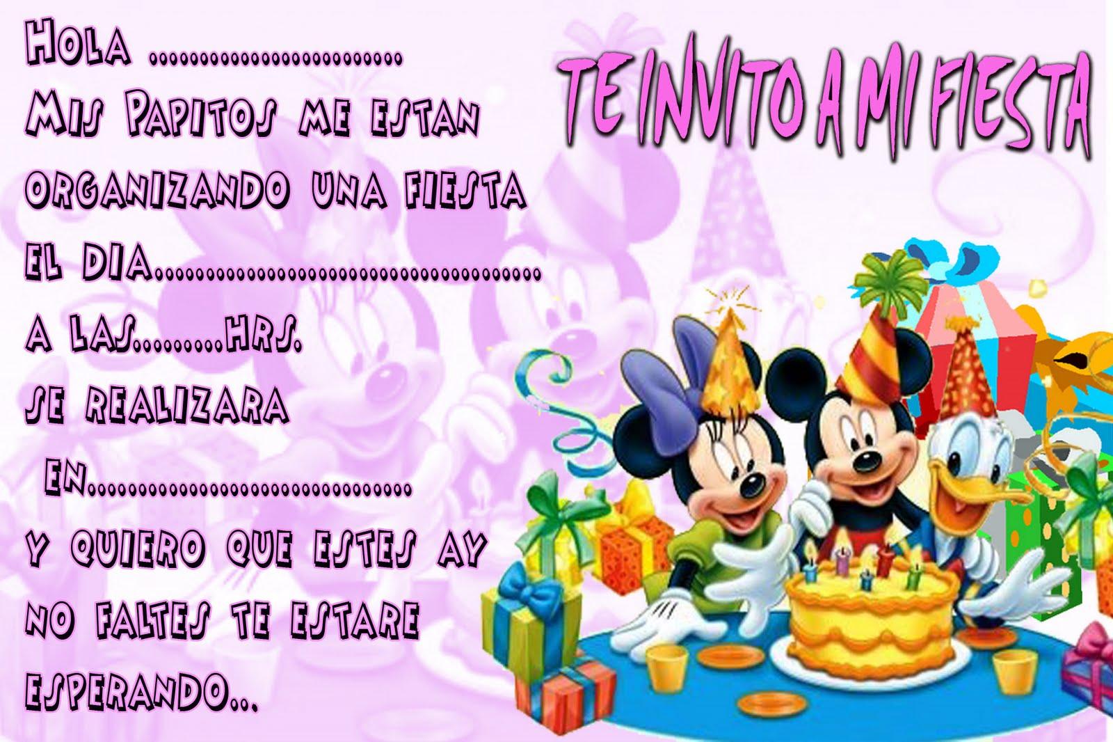 Tarjetas De Invitacion De Cumpleaños Template