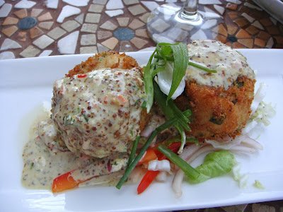 Fried Jonah crab cakes at Surf, Portsmouth, NH