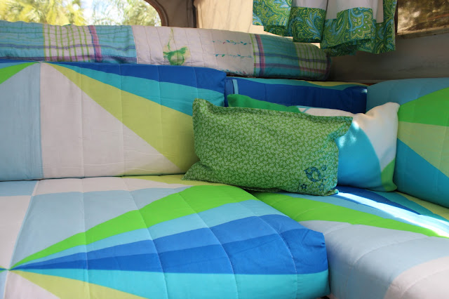 Bright and cheery and budget friendly, Because I'm Me Jayco 1207 pop-up tent camper interior remodel