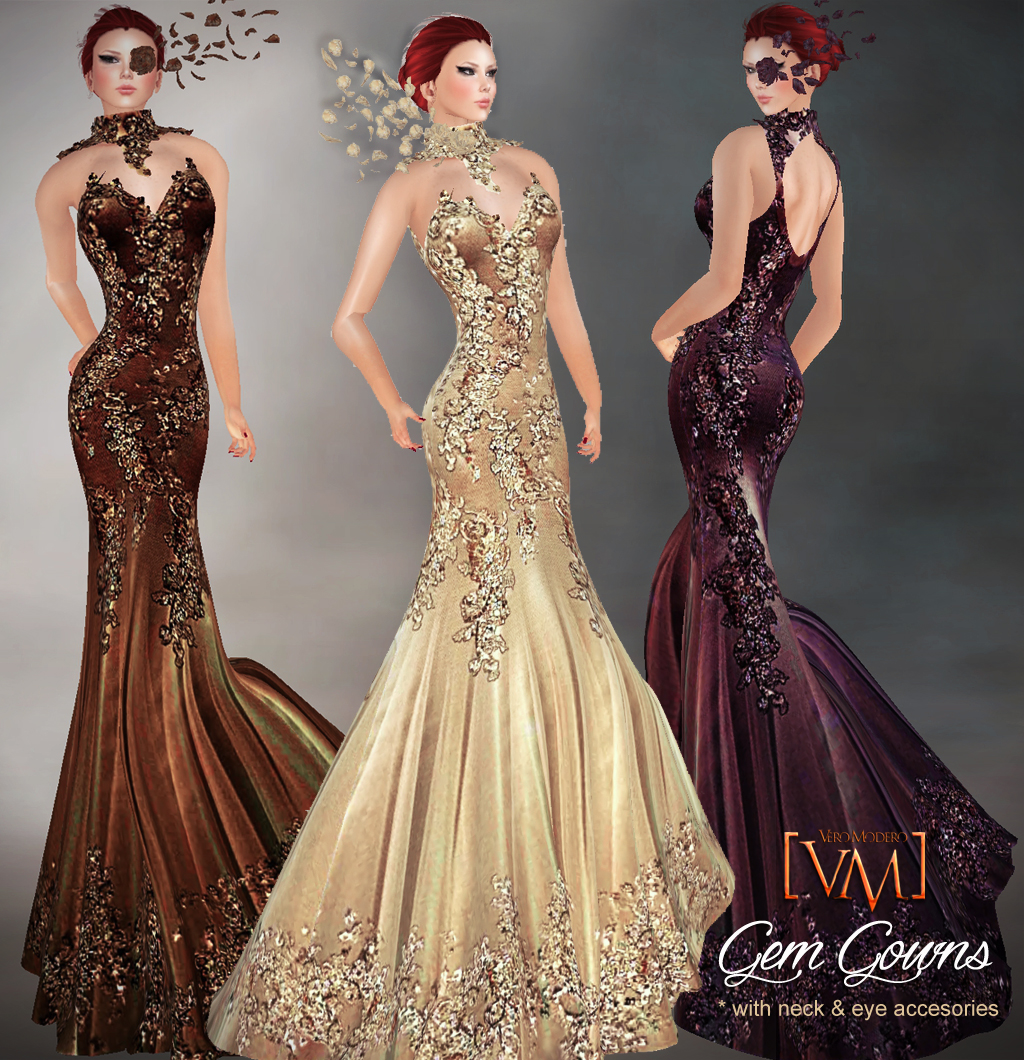 VERO MODERO: Brand New Gowns : Gem and Creamy Angel!