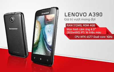 Spesifikasi Lenovo A390 Android Dual Core Murah