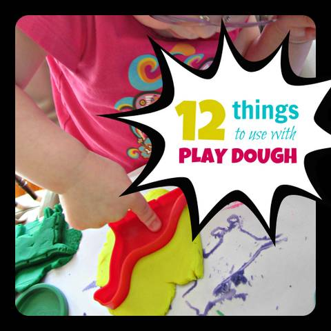 how to make things with play doh