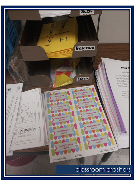 Free Reading Journal Labels: A Modern Teacher