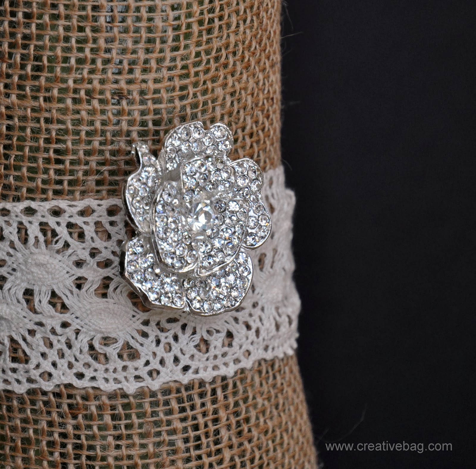 rhinestone brooches and buckles | creativebag.com