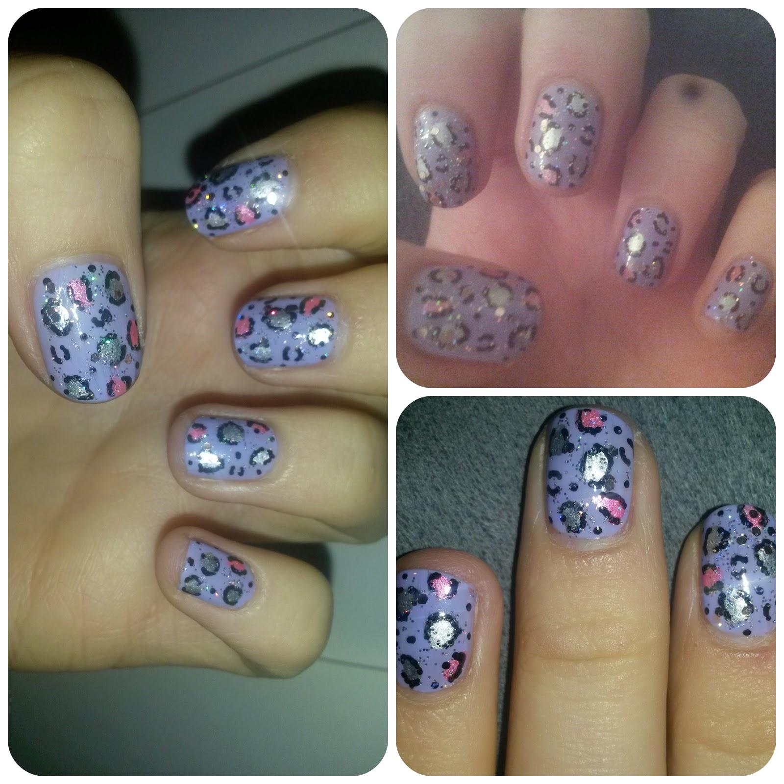 A British Sparkle Manicure Monday 18 Rawr For Leopard Print