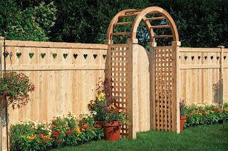 Схемы деревянного забора и входных арок фото 1