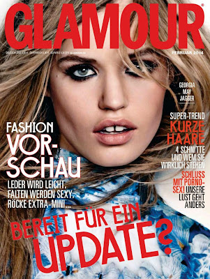 Georgia May Jagger Glamour Germany Magazine Cover February 2014 HQ Scans