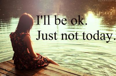no-girl-love-sad-text-lake - How To Get Over The Nostalgia Of Lost Love  - i will be okay just not today