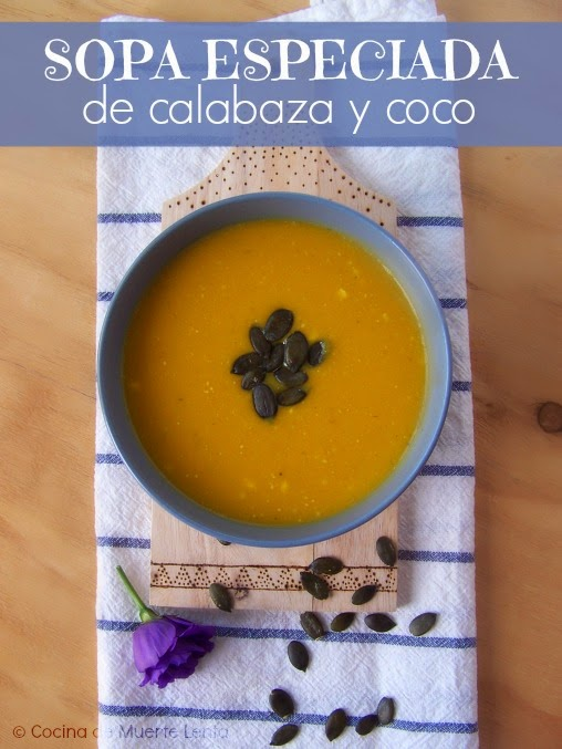 Sopa Especiada de Calabaza y Coco