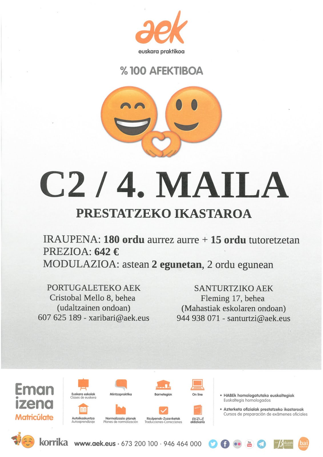 C2 PRESTATZEKO IKASTAROA