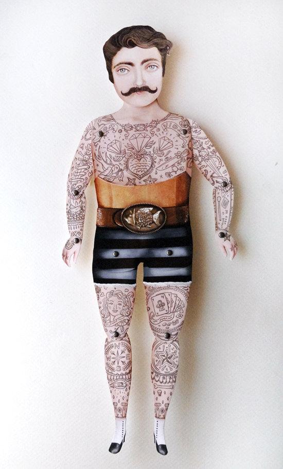 Victorian Man Tattoo Tatoo-Tatoo-Tatuado