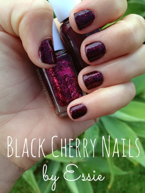 Black Cherry Nails by Essie | imshayshay.blogspot.com