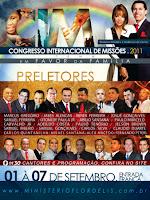 Congresso Internacional de Missões(CIM), do Ministério Flordelis do Pastor Anderson do Carmo e Pastora Flordelis que estará acontecendo de 01 até dia 07 Setembro, e será transmitido ao-vivo aqui.    <b>A transmissão do Evento está sendo feita ao vivo no final da página!</b><br /> <br /> Os Preletores do Congresso do Ministério Flordelis serão:<br /> <br /> Pastor Marcus Gregório<br /> Pastor Jabes de Alencar<br /> Pastor Abner Ferreira<br /> Pastor Josué Gonçalves<br /> Pastor Samuel Ferreira<br /> Pastor Otoni de Paula Júnior<br /> Pastor Abilio Santana<br /> Pastor Paulo Marcelo<br /> Pastor Carvalho Júnior<br /> Pastor Adelido Costa<br /> Pastor Paulo Tenório<br /> Pastor Jelson Brown<br /> Pastor Samuel Ribeiro<br /> Pastor Samuel Gonçalves<br /> Pastor Carlos Silba<br /> Pastor Cláudio Duarte<br /> Pastor Carlos Quintanilha<br /> Pastor Misael Santana<br /> Pastor Alexa Macedo<br /> Pastor Fernando Peters<br /> <br /> Os Cantores do Congresso do Ministério Flordelis, C.I.M serão:<br /> <br /> Fat Family<br /> Robson Monteiro<br /> Kléber Lucas<br /> Marina de Oliveira<br /> Bruna Karla<br /> Wilian Nascimento<br /> Léa Mendonça<br /> Cristina MEl<br /> Quatro por um<br /> Ariane<br /> Alex e Alex<br /> Sarando a Terra Ferida<br /> Jairo Bonfim<br /> Marcelo Dias e Fabiana<br /> Elaine Martins<br /> Betânia Lima<br /> Ministério Flordelis de Adoração<br /> Andreson Freire<br /> Jossana Glessa<br /> Anderson Pontes<br /> Anderlindo José<br /> Muro de Fogo<br /> Melvin<br /> Luã Santos