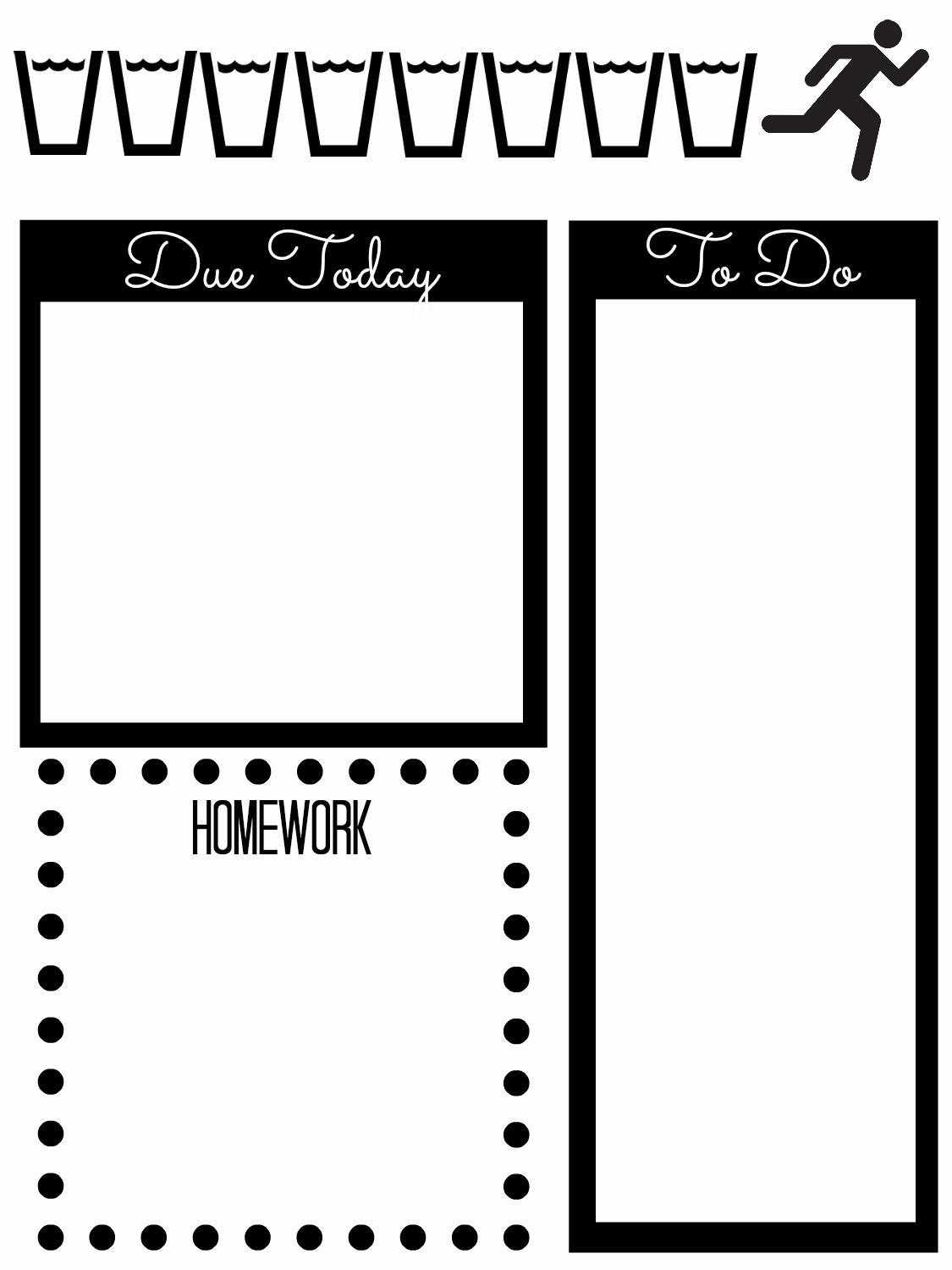 Simplicity image throughout free organization printables for college students