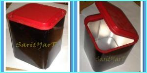 decorando se puede reciclar un bote de tabaco con tapa