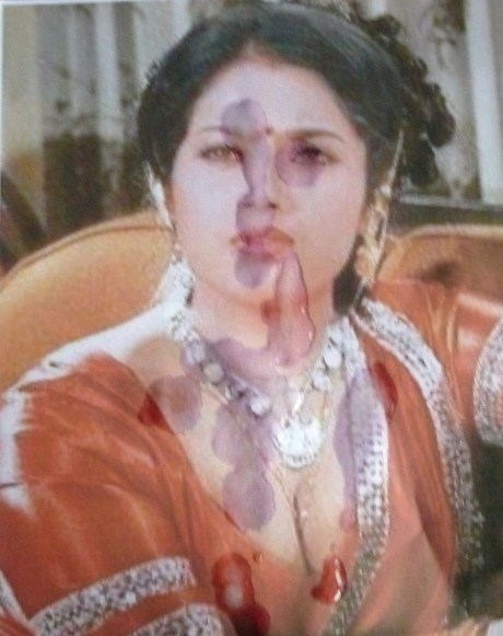 Final, sorry, Bollywood actress cum on face think, that
