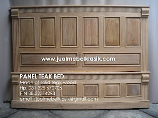 Supplier mebel jati minimalist dipan jati teak wood bed teak wood furniture