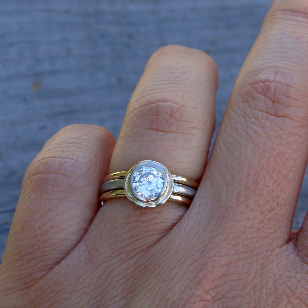 diamond by gold karen in original white solitaire ring engagement recycled rings product karenjohnson johnson